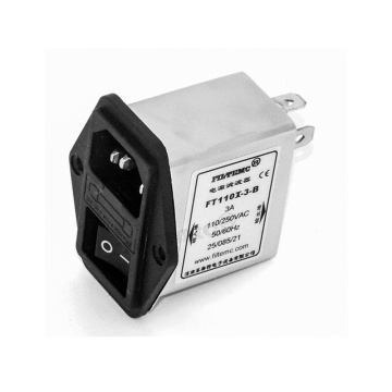 IEC Inlet Filters with Switch and Single Fuse