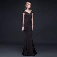 Fishtail Evening Gown Long Dress With Sexy Back