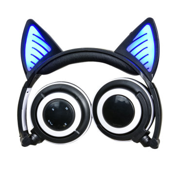 Cuffie wireless Light Up Cat Ear pieghevoli
