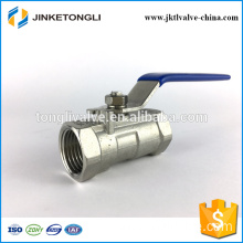 JKTL1B010 cf8m 1000 wog 1pc water tank stainless steel threaded ball valve
