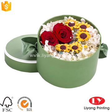 Colorful round flower gift box cardboard boxes