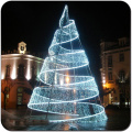 Giant Christmas tree light up PE`s beachfront