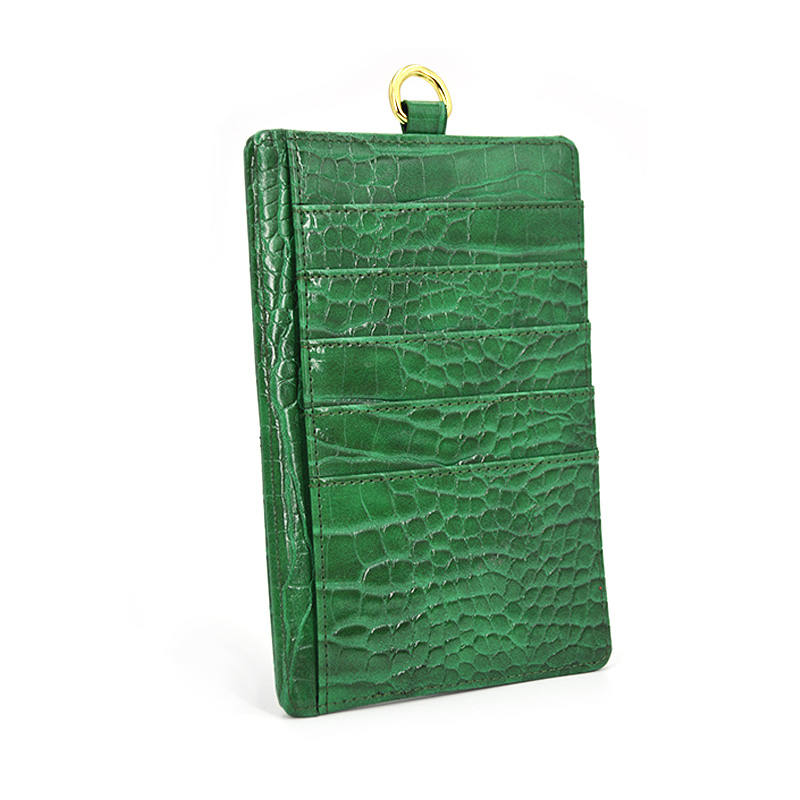 Double Sided PU Leather Card Holder Wallet Case with 5 Card Slots