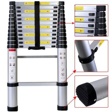2m aluminum telescopic ladder