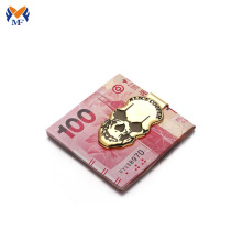 Metal craft custom skull logo money clip
