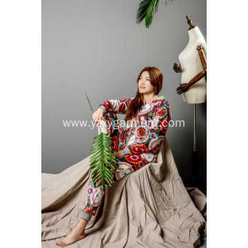 Full print flower onesie for women