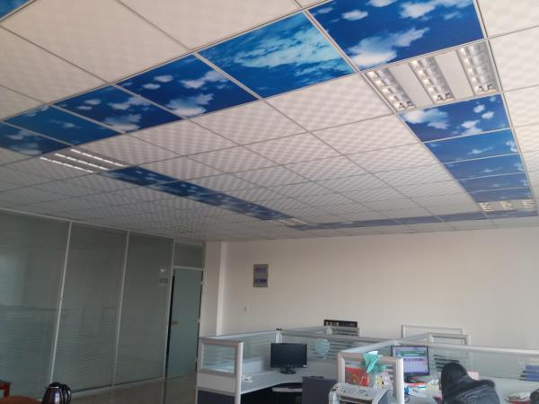 ceiling heater in office