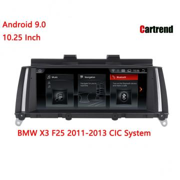 Display de rádio para BMW X3 F25 2011-2013