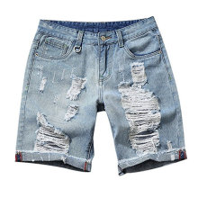 Reliable for Men'S Blended Shorts Fashion Men Summer Classic Denim Shorts export to Guadeloupe Wholesale