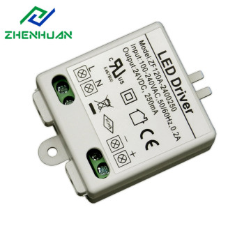6W 24V Plastic behuizing DC LED Power Driver