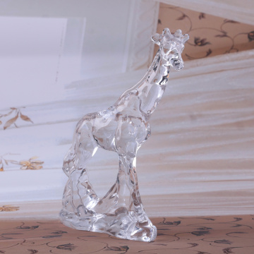 Crystal Glass Decorations clear Deer Ornament