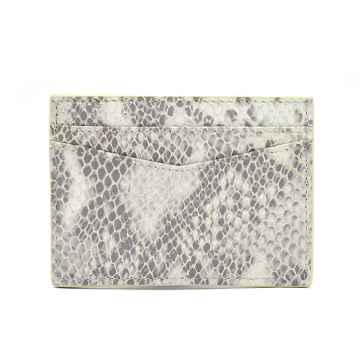 Custom Print Promotional Python Leather Credit Card Holder