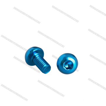 Non Serrated Aluminum Flange Nut Black Blue Red