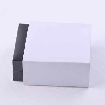 Black square leather custom jewelry gift box