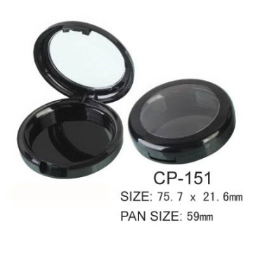 Round Cosmetic Powder Case With Clear Window