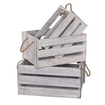 Yes Foldable Solid Box Style Wooden crates for wine