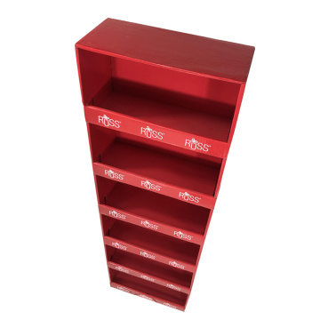Apex red paper store display rack kids toys display shelf cabinet