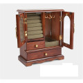 Solid Wood Archaize Finish Wooden Zoned Jewelry Box
