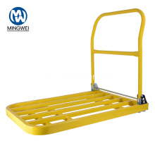 Yellow PlatformTrolley With Folding Handle