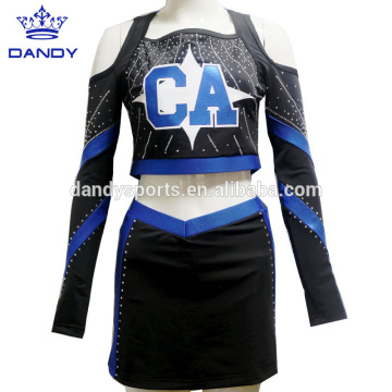 Personlized Products for Cheerleader Uniform detached sparkles all stars cheer uniforms export to Algeria Exporter