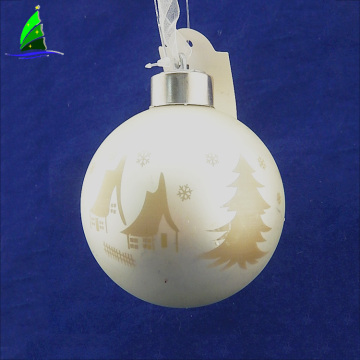 Light Up Glass Family Christmas Ball Ornaments