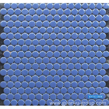 Pure Blue Porcelain Mosaic Tile