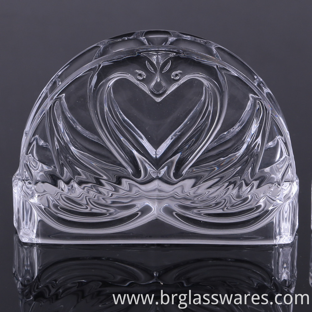crystal glass napkin holder 1