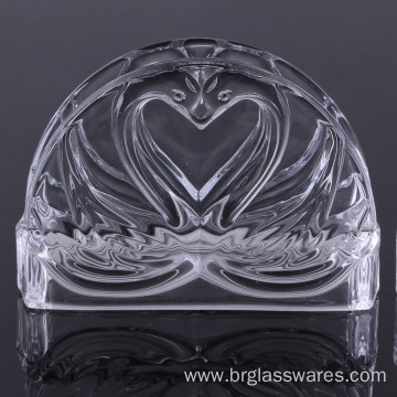 Best Quality for Paper Napkin Holder Unique Double Swan Design Crystal Glass Napkin Holder export to American Samoa Manufacturers