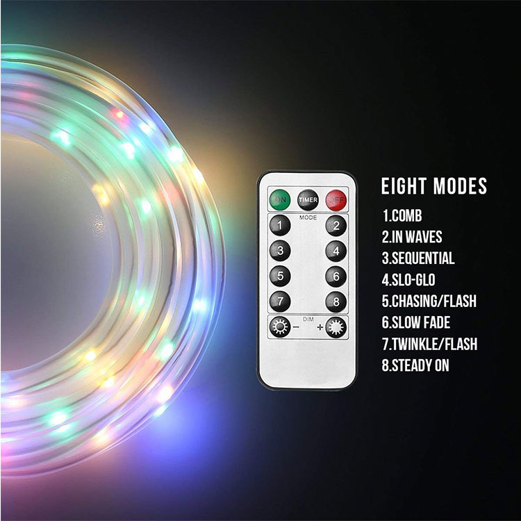 100m multicolor rope light decoration