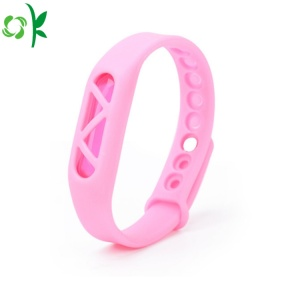 Popular Adjustable Silicone Mosquito Repellent Bracelet