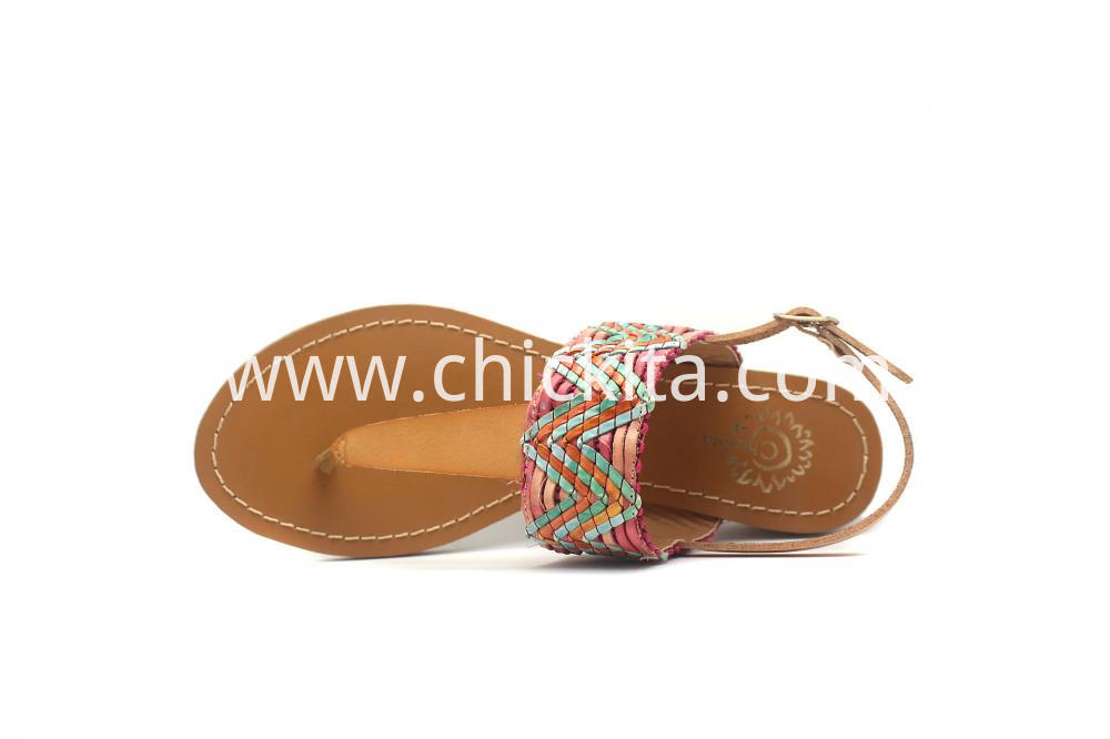 Womens Weave Thong Sling Sandals