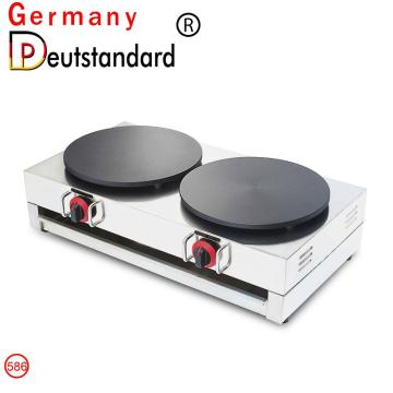 commercial double-head gas crepe maker with factory price