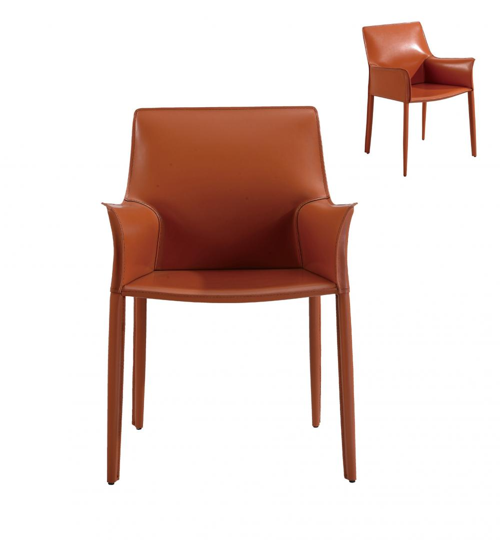Orange PU Dining Chair