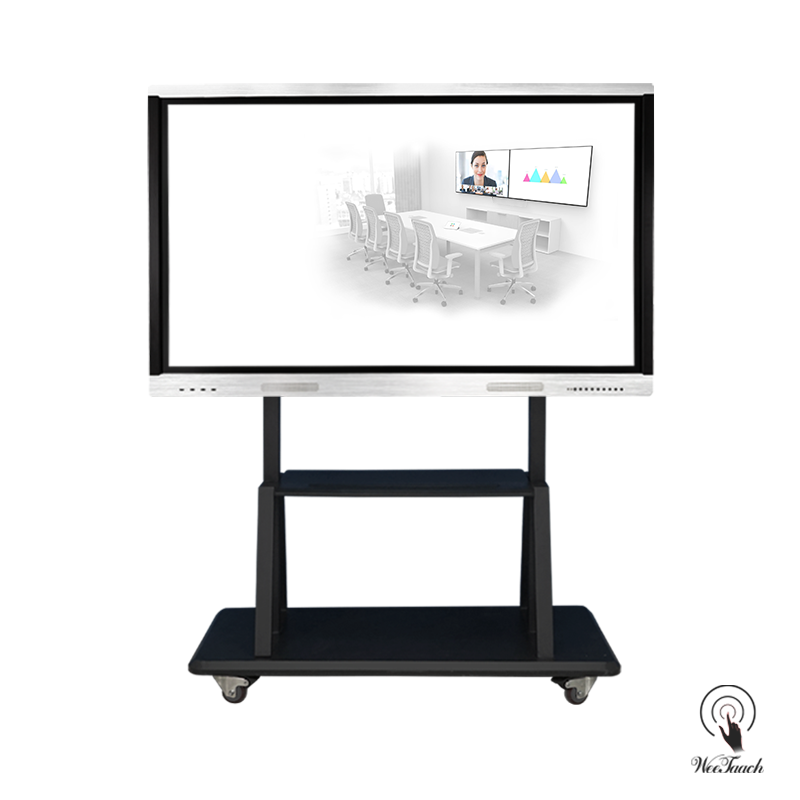 75 Inches All-In-One Touch Monitor with mobile stand