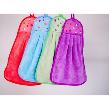 Hanging Microfiber Cleaning Cloth Kitchen Washing Towel