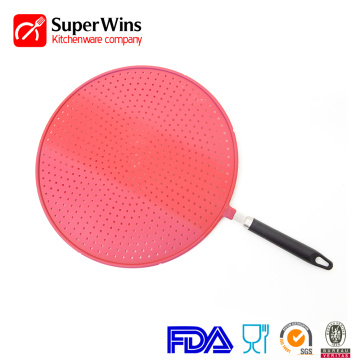 Heat Insulation Mat Silicone Splatter Screen Pan Cover