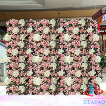 Fake silk flowerwall for wedding party backdrop decor