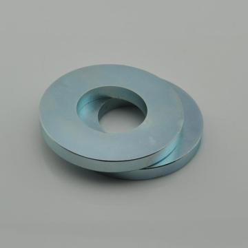 Zinc coated Neodymium speaker ring magnet