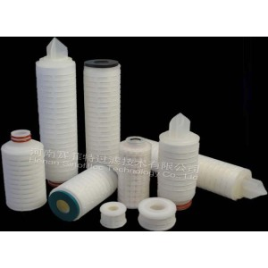 PP Coated PTFE Pleated Filter Cartridges