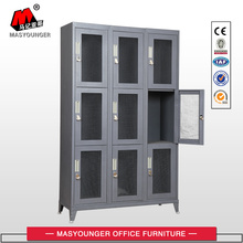 metal mesh 9 door locker with feet