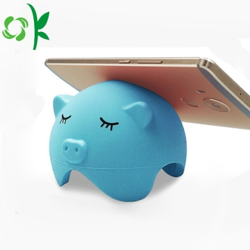 Promotional Cute Cartoon Pig Silicone Mobile Phone Holder