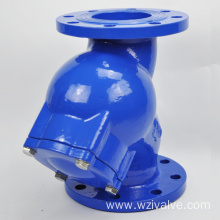 y straineriner with blow-off ball valve