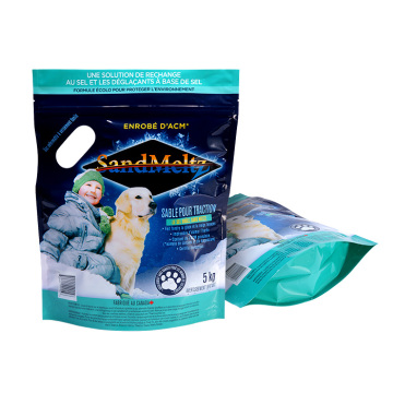 Waterproof Standing Plastic Zipper Bag For Pet Food