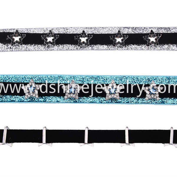 Crystal Beads Star Charm Choker