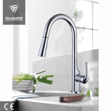 Elegant High Arc Pull-Down Spray Kitchen Mixer Taps