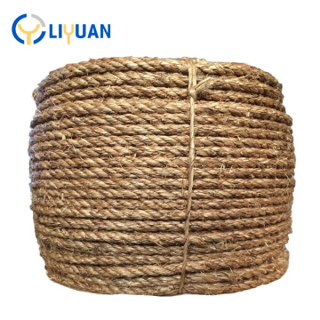 Natural color high strength 10mm 3 strands hemp manila boat rope