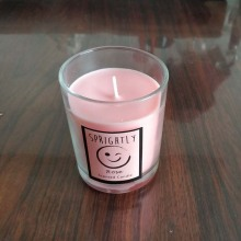Glass Container Natural Soy Wax Aroma Candle