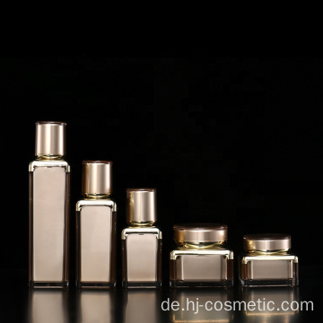 Wholesales High quality brown acrylic square cosmetic Bottle/jars with good price