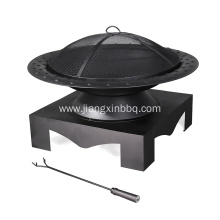 Quality for Outdoor Fireplace Steel Wood Burning Fire Pit With Base supply to Netherlands Importers