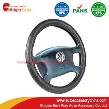 Accent Stitching Comfort Grip Steering Wheel Cover